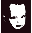 child head silhouette vector image