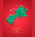 christmas new year paper cut star winter city vector image