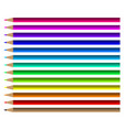 colorful pencil set vector image vector image