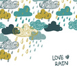 Colorful Rain Clouds Background vector image vector image