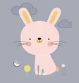 cute cartoon bunny vector image vector image