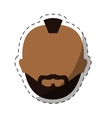 dark skin bearded man with mohawk icon image vector image vector image