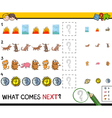 educational pattern game vector image vector image