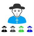 enjoy christian priest icon vector image vector image