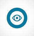 eye bold blue border circle icon vector image
