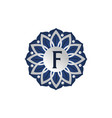 flower elegant icon initial f vector image vector image