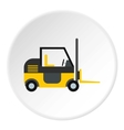 Forklift icon flat style vector image
