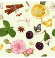 fruit tea seamless pattern vector image vector image