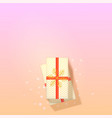 gift box on trendy gradient background top down vector image