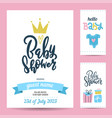 gift tags and birthday invitation card birthday vector image vector image