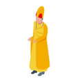 gold clothes priest icon isometric style vector image vector image