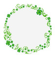 green clover circle background vector image vector image