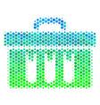 halftone blue-green analysis icon vector image vector image