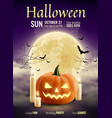 halloween party realistic poster vector image
