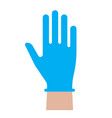 hand in glove icon individual protection against vector image