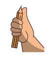 hand picking up a pencil vector image
