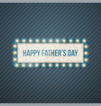 happy fathers day blue striped background vector image vector image