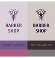 heraldic logo for a hairdressing salon Business vector image