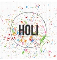 Holi Banner Template for Indian Festival of Colors vector image