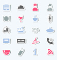 Hotel services icons Stickers vector image vector image