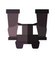 Isolated binocular object design vector image