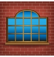 large window vector image vector image