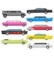 Limousine set vector image vector image