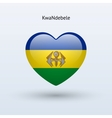 Love KwaNdebele symbol Heart flag icon vector image vector image