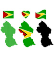 map Guyana vector image