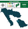 map of tabuk saudi arabia vector image vector image