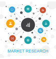 market research trendy web concept with icons vector image