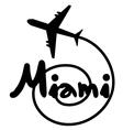 Miami travel symbol vector image