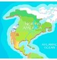 North America Mainland Cartoon Relief Map vector image vector image