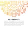 oktoberfest line concept vector image
