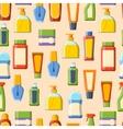Perfume tube seamless pattern vector image vector image
