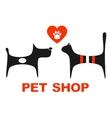 pet shop symbol with pets vector image