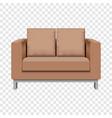 pillow sofa mockup realistic style vector image