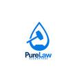 pure law logo designs vector image vector image
