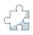 puzzle piece game line icon vector image vector image