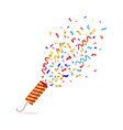 realistic 3d detailed striped party cracker vector image