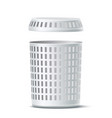 realistic 3d empty white laundry basket vector image