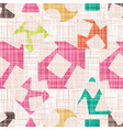 retro design cloth with geometric shapes vector image vector image