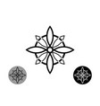 sacred flower celtic like style linear star icon vector image vector image