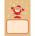 Santa and snow vector image vector image