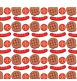 sausage grill invitation pattern background vector image vector image