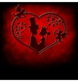 silhouettes of the Prince and Princess with cupids vector image vector image