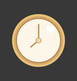 simple clock vector image vector image