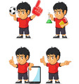 Soccer Boy Customizable Mascot 7 vector image vector image