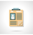 Staff documentation flat color icon vector image