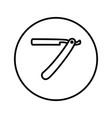 straight razor barber shop icon thin line vector image